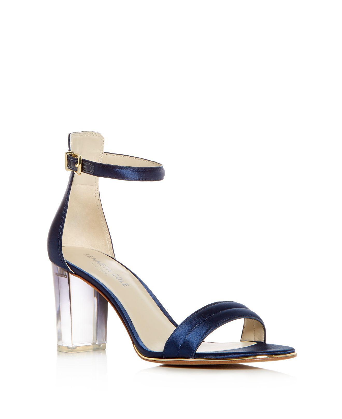 Kenneth Cole Women's Lex Satin Ankle Strap High-Heel Sandals Eweexi3oT