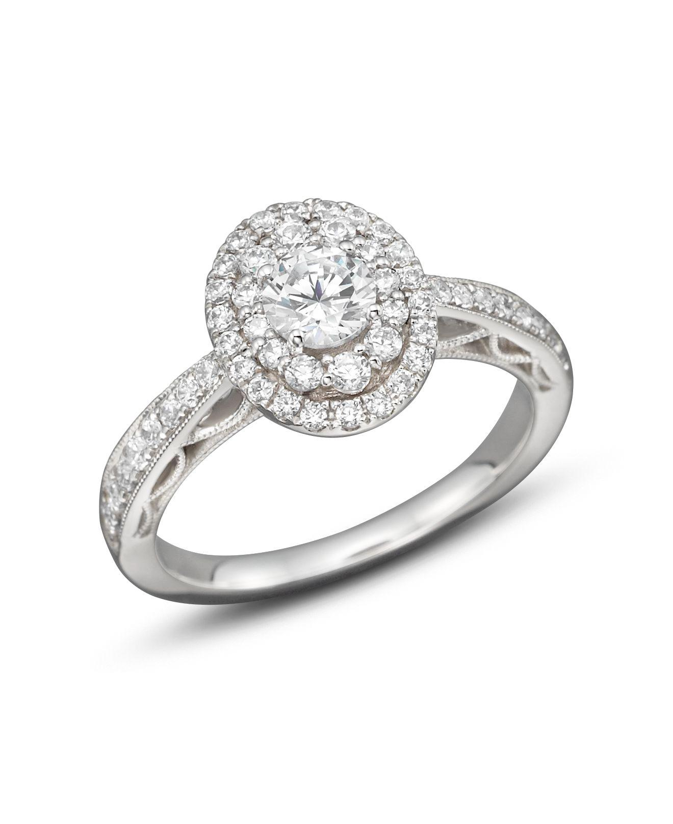 Lyst Bloomingdales Diamond Engagement Ring In 14k White Gold 10