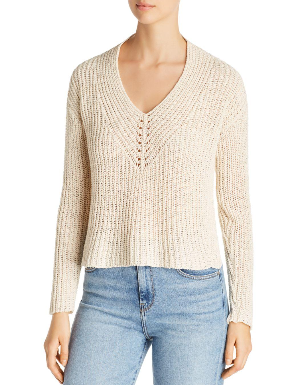 fbd9e0305f5682 Lyst - Eileen Fisher Cropped V-neck Sweater - Save 40%