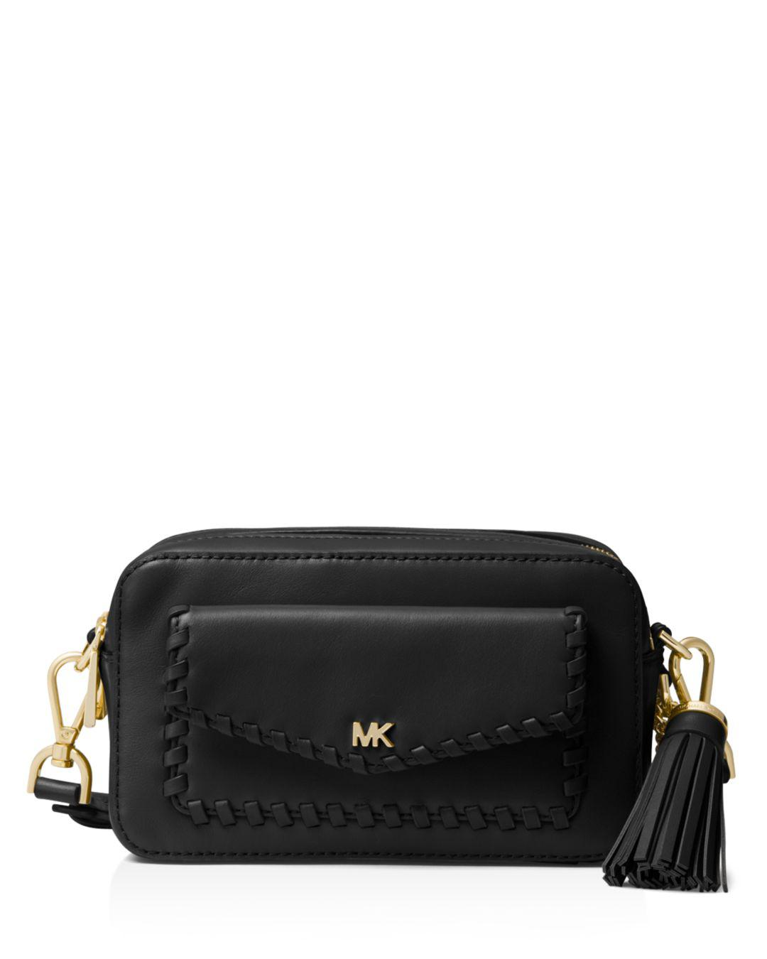 2b6912914f19 Lyst - MICHAEL Michael Kors Small Leather Pocket Camera Bag in Black ...