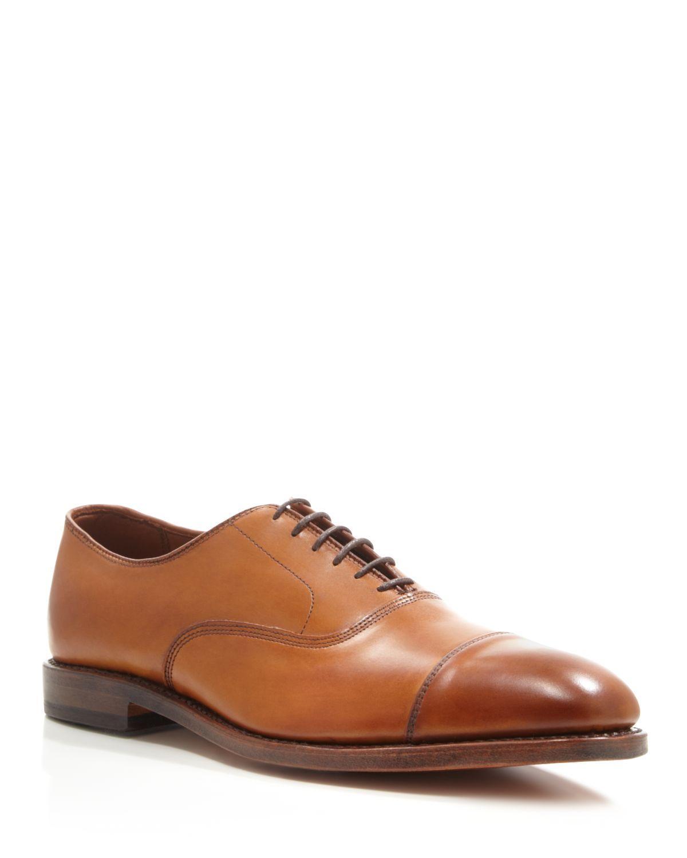 Allen Edmonds Park Avenue Cap Toe Oxfords In Brown For Men