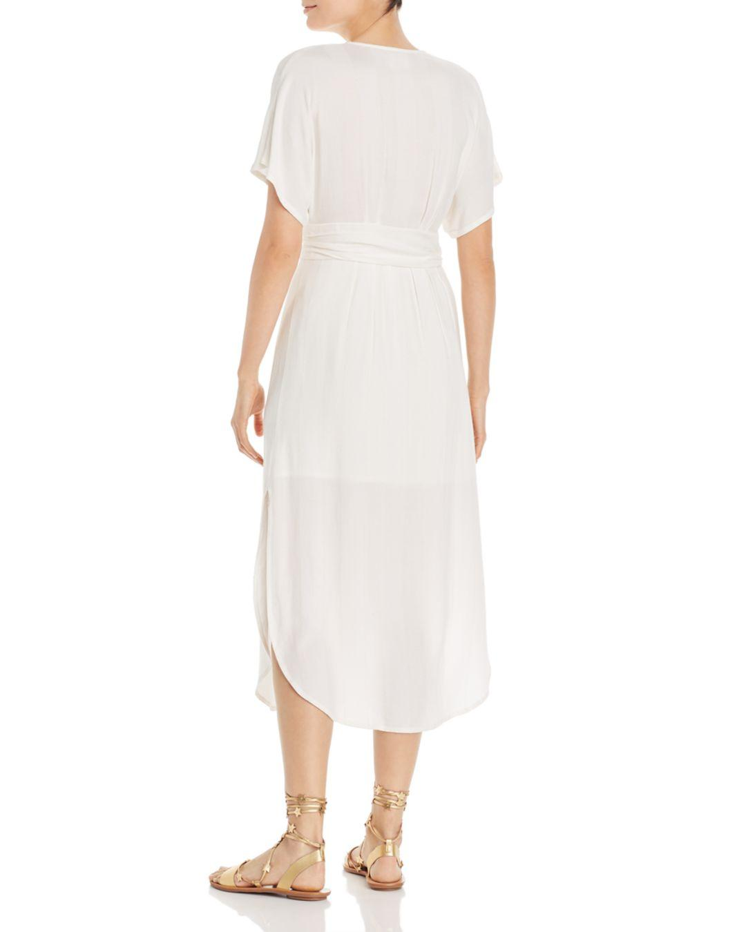 3f48fc586781 Lyst - Suboo Nadia Button-front Midi Dress in White