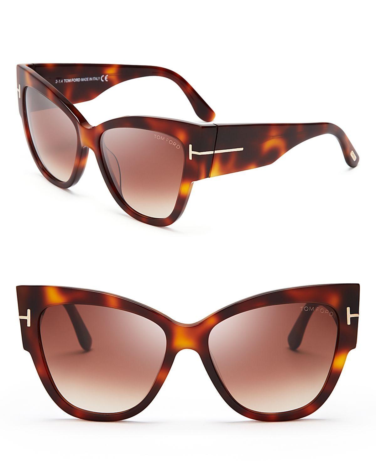 888a799cf61 Lyst Tom Ford Anoushka Cat Eye Sunglasses 57mm In Brown