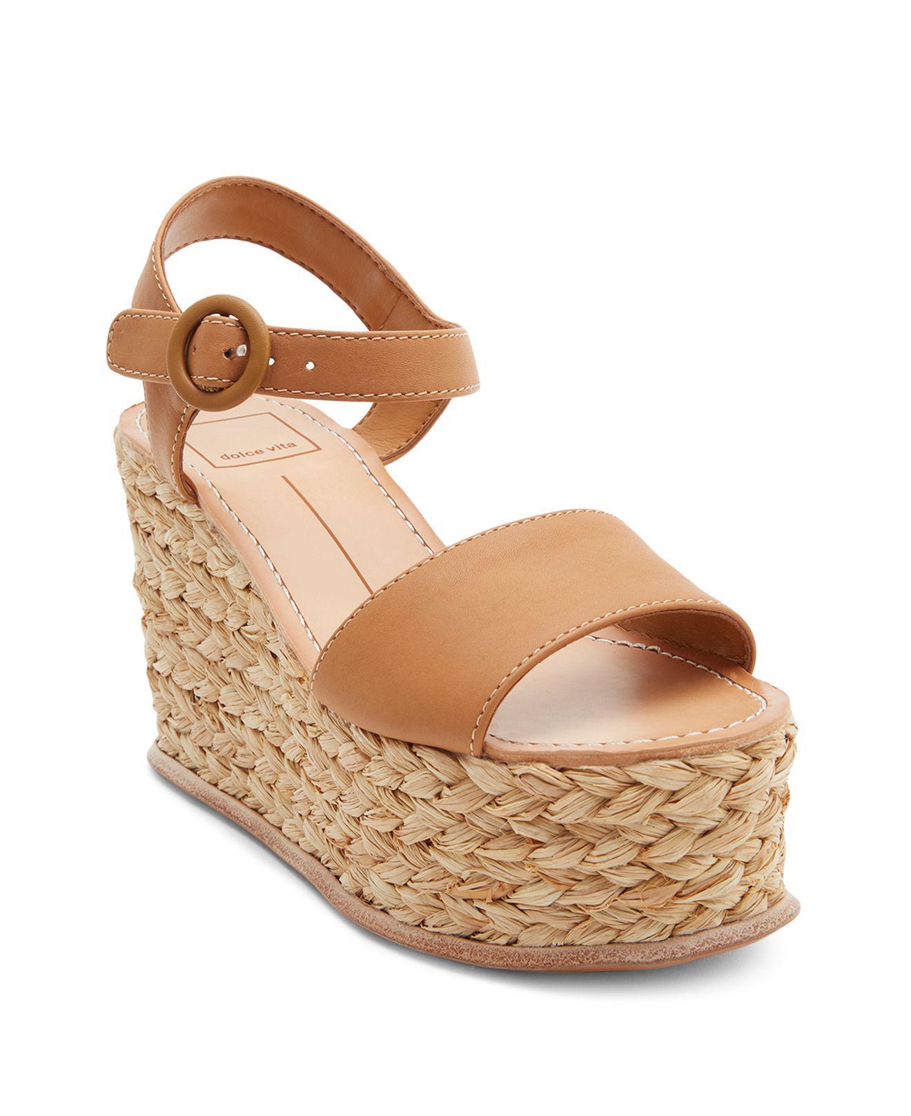 Dolce Vita Women's Dane Espadrille Platform Wedge Sandals BDvuwp5ZIT