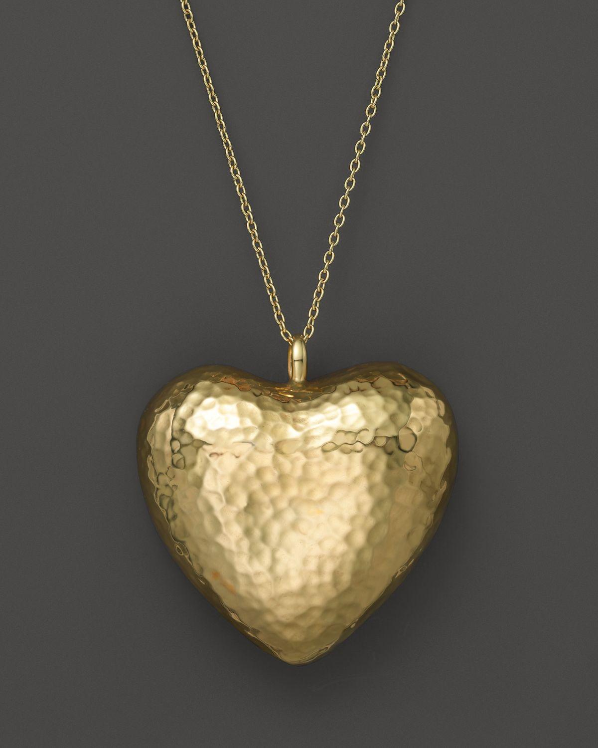 Lyst ippolita glamazon 18k gold large heart pendant necklace 33 gallery mozeypictures Gallery