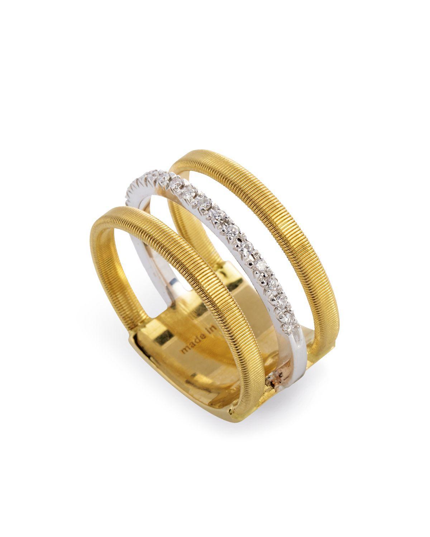 Marco Bicego 18k Yellow Amp White Gold Goa Ring With