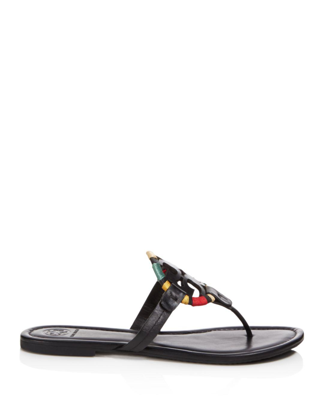 3e2049625bffb Lyst - Tory Burch Women s Miller Leather Sandals