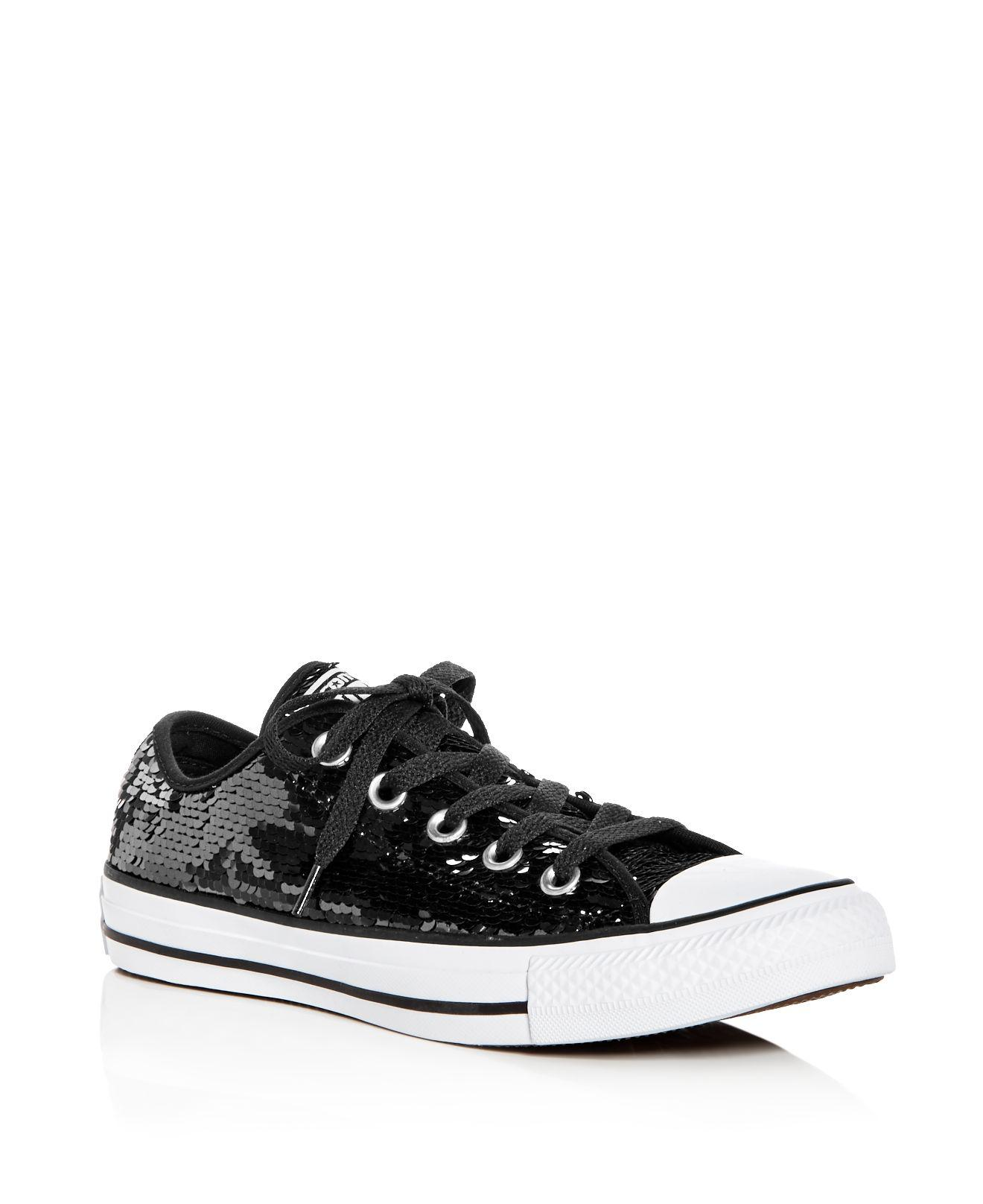 Converse Women's Chuck Taylor All Star Sequin Lace Up Sneakers hrt3Ro