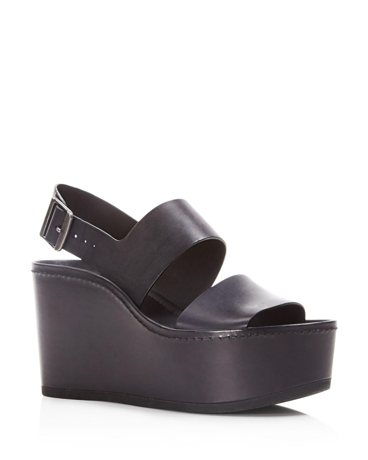 919160439fd Lyst - Vince Idalia Platform Wedge Sandals in Black