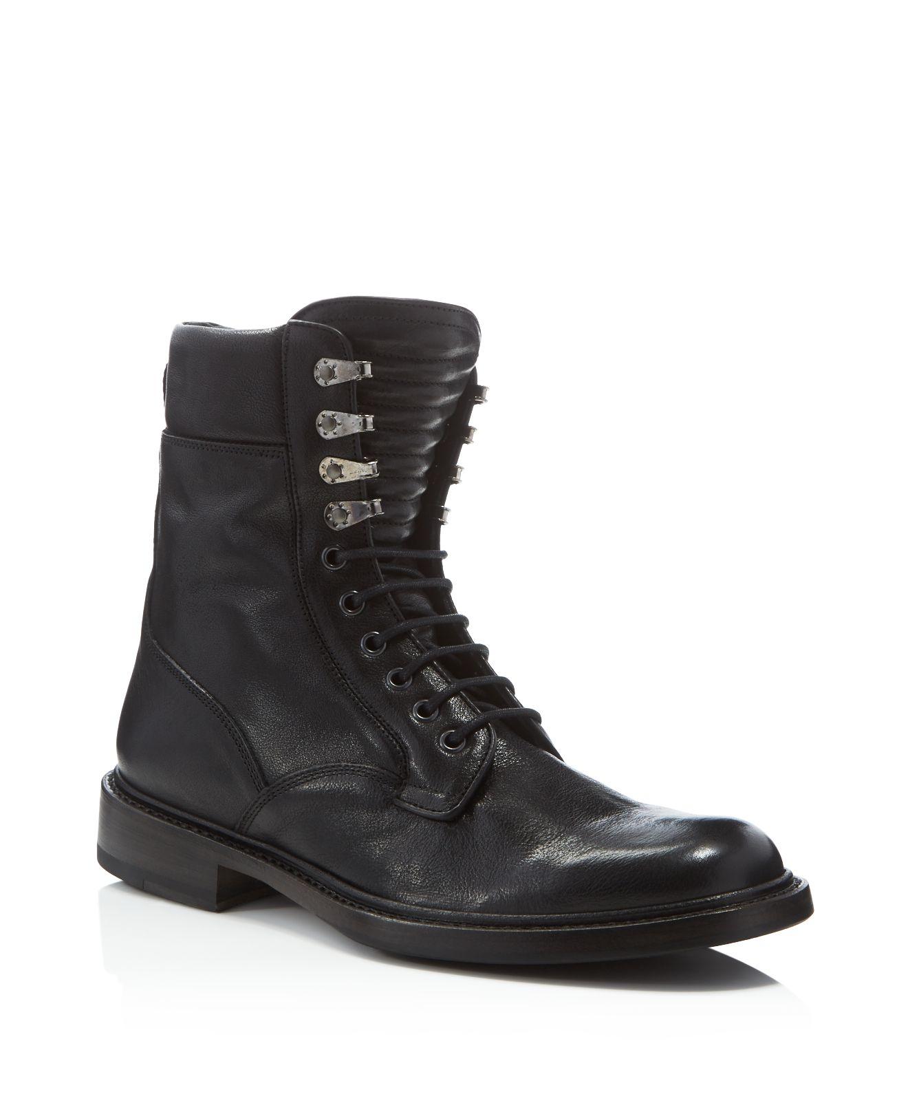 Rag Amp Bone Spencer Commando Leather Boots In Black For Men