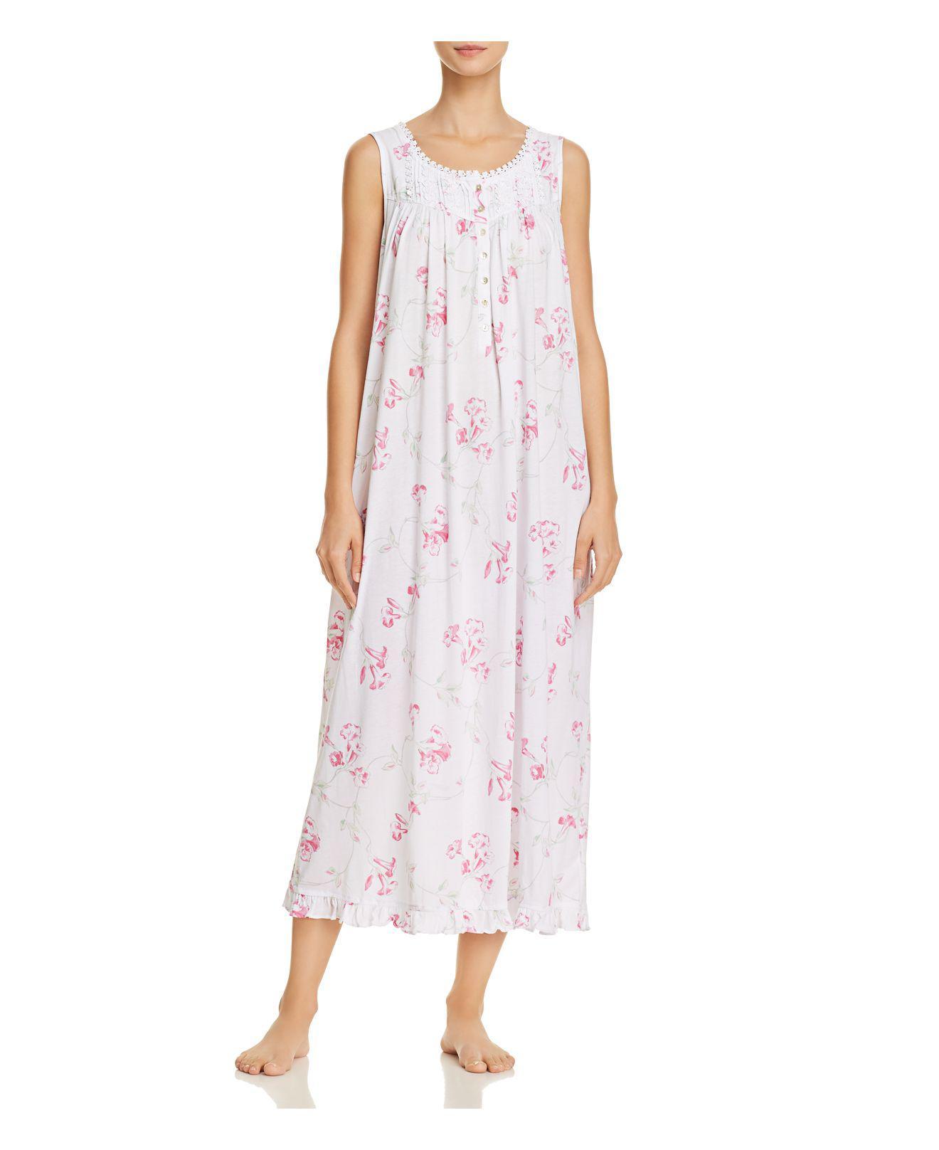 32fbadaab3 Lyst - Eileen West Sleeveless Knit Ballet Nightgown in Pink