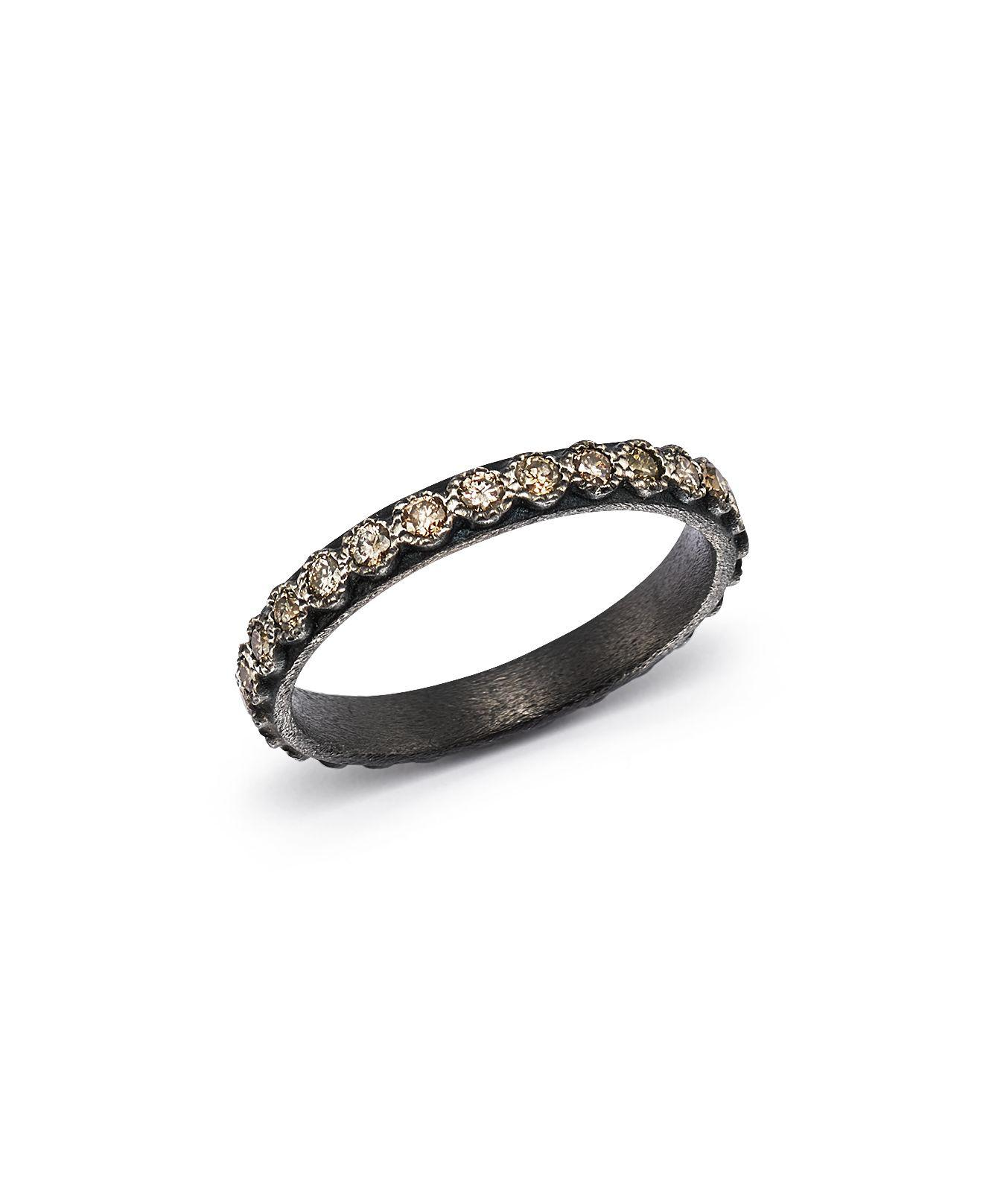 Armenta Black Diamond Silver Stackable Ring YvZ1s9cSd9