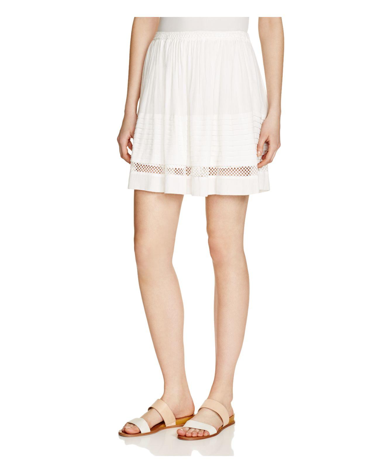 suncoo floris embellished skirt in white blanc casse save 26 lyst. Black Bedroom Furniture Sets. Home Design Ideas
