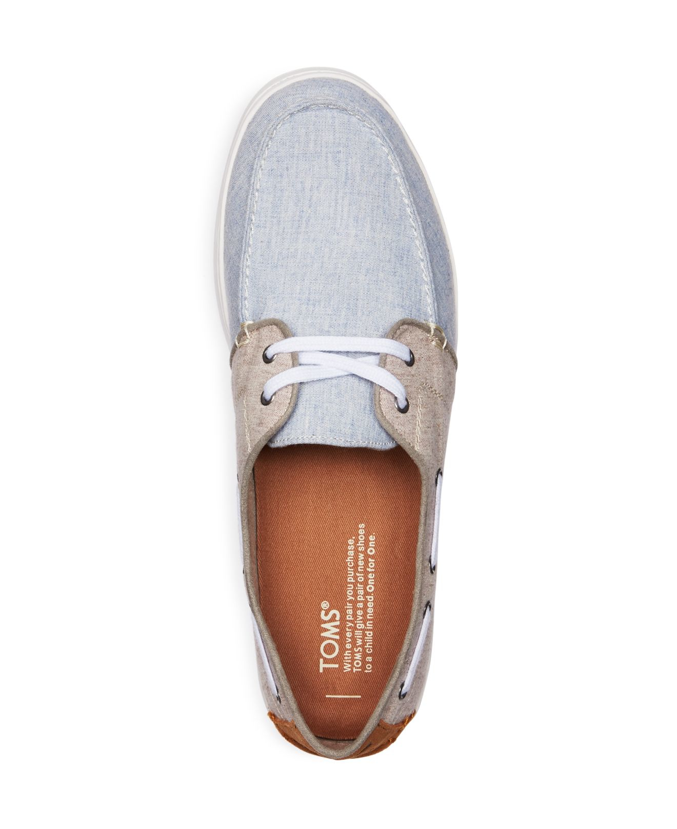 46652a5cf383 ... TOMS Culver Lace Up Boat Shoes in Gray for Men Lyst