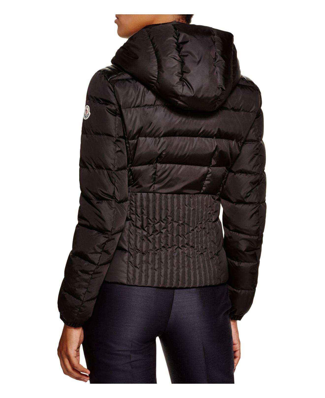 9321ec9ca low cost moncler coat ruffle inset 26faf ee55d