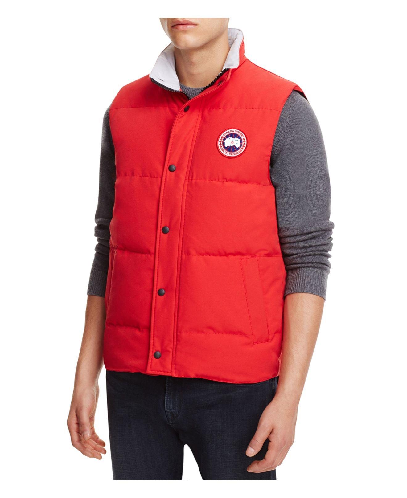 Canada Goose trillium parka replica fake - Canada goose Garson Down Vest in Red for Men | Lyst