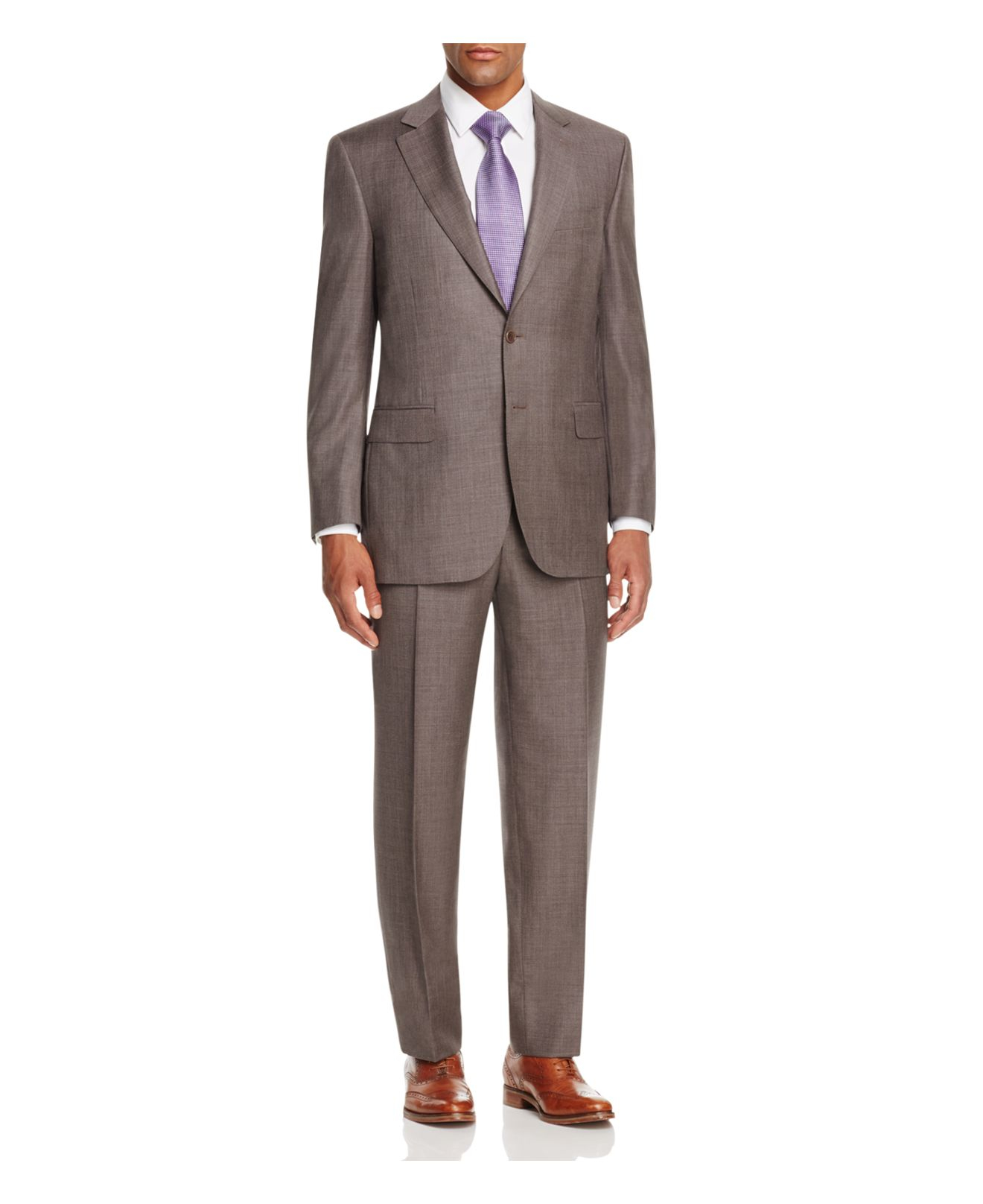 Canali Siena Textured Solid Classic Fit Suit in Blue for ...