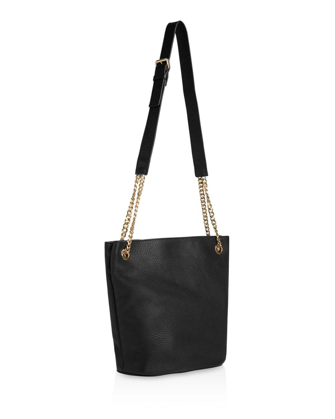40faa08e8198 Whistles Sloane Leather Chain Slouch Shoulder Bag in Black - Save 31 ...