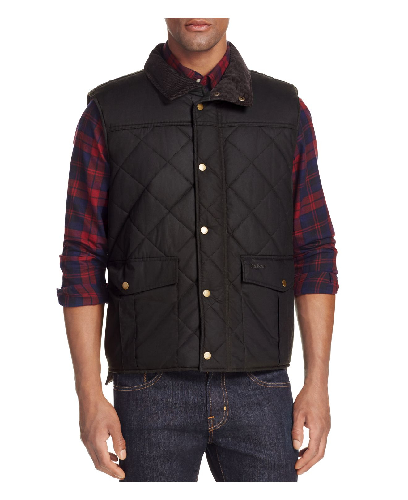 Barbour Boxley Quilted Waxed Cotton Gilet Vest For Men Lyst