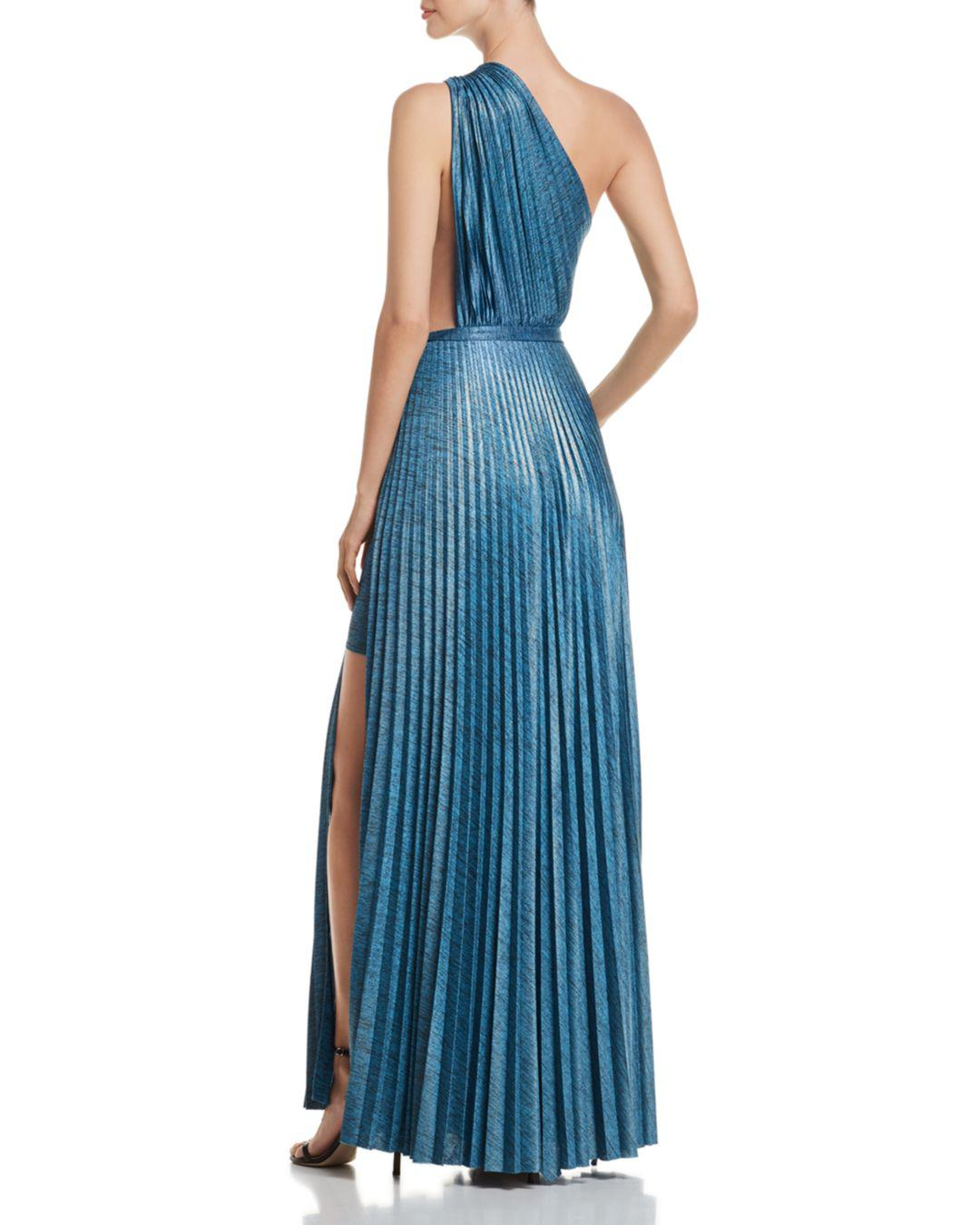 6dbe2b107a Elie Tahari Mistry Pleated One-shoulder Dress in Blue - Lyst