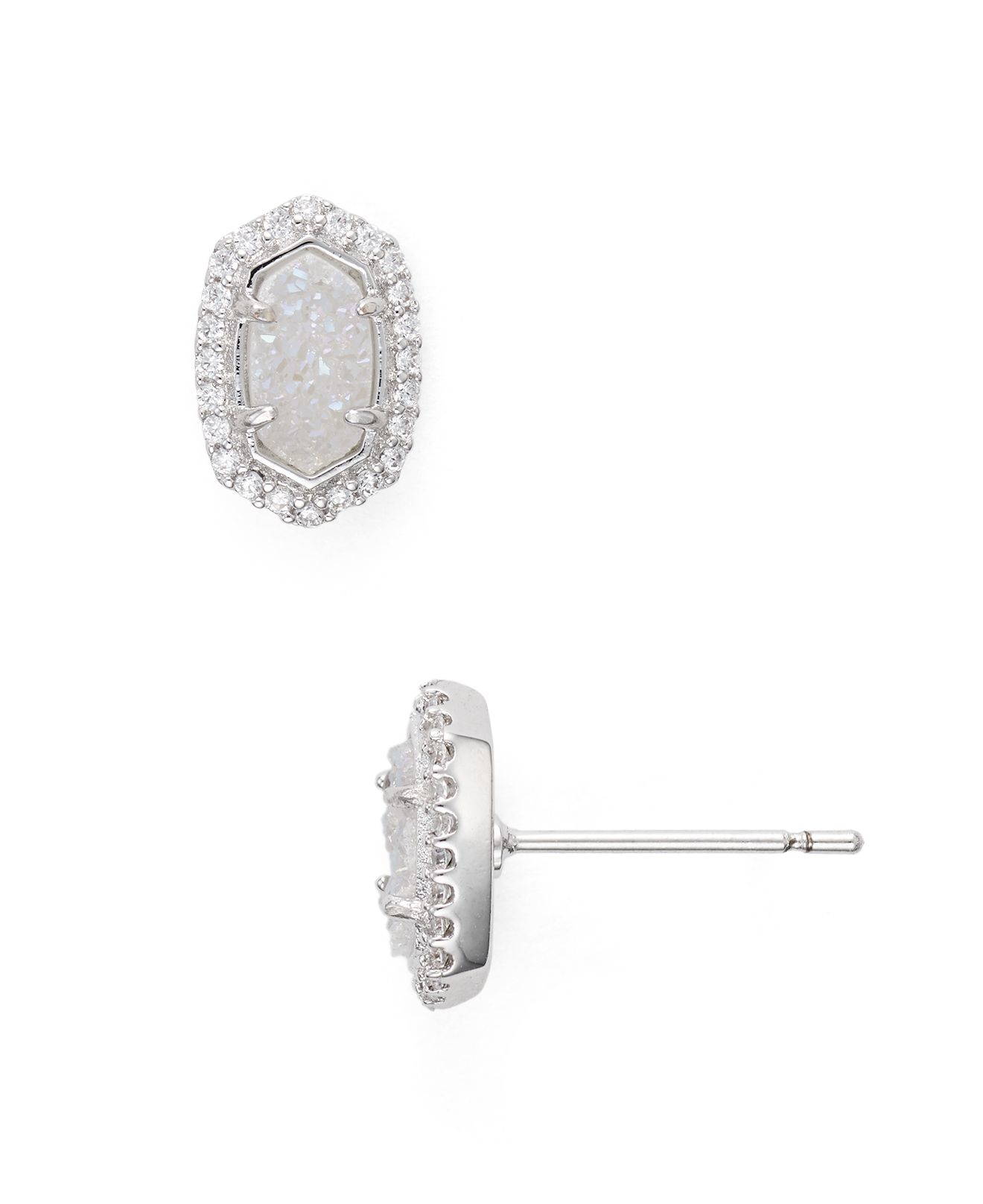 kendra earrings studs lyst kendra cade stud earrings in metallic 3274