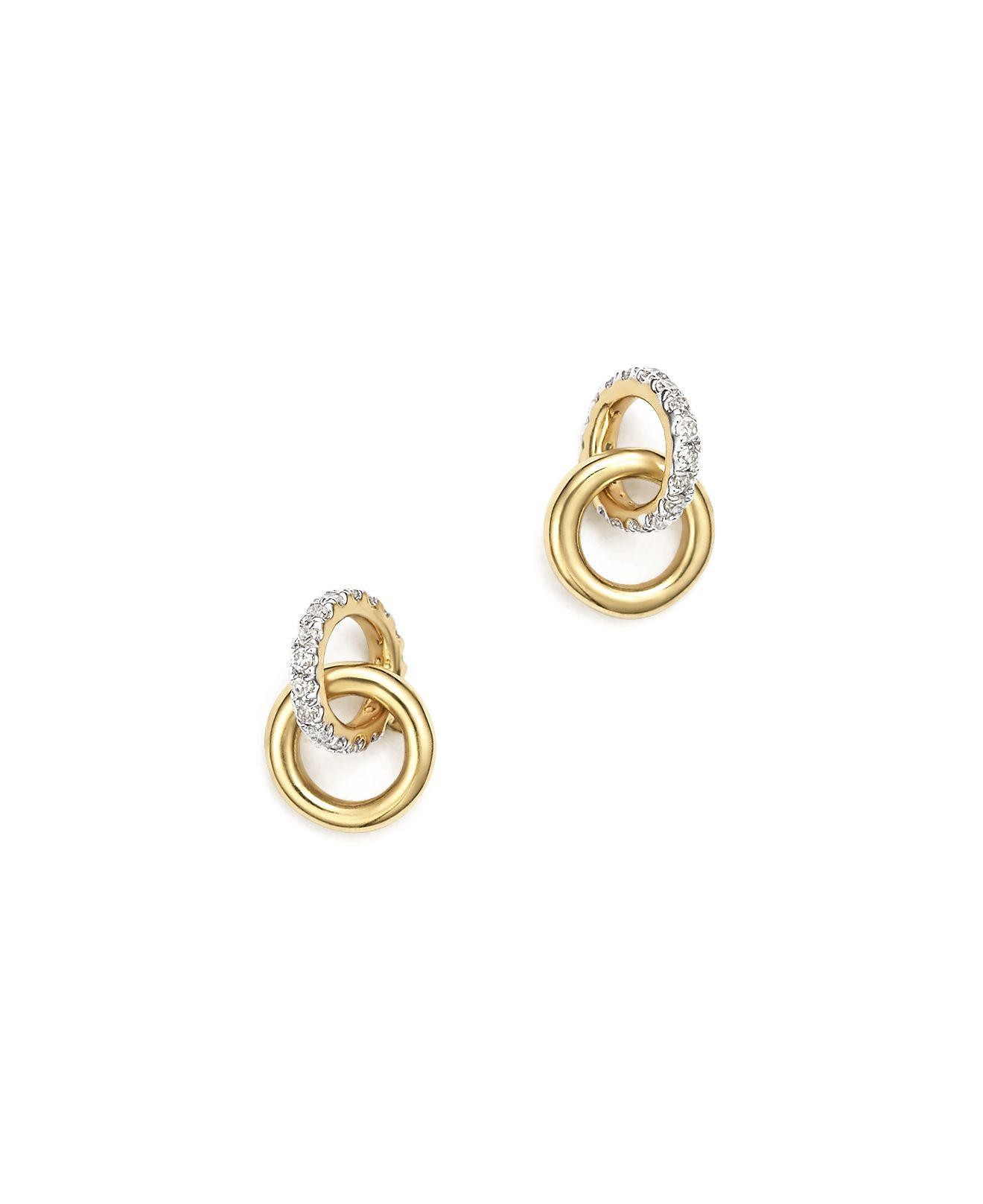 Adina Reyter 14k Diamond Interlocking Loop Post Earrings f9wJtzn