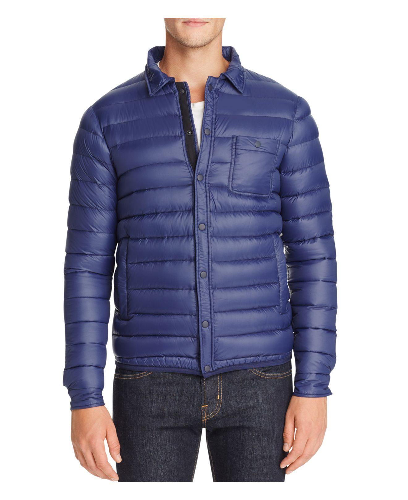 Slate And Stone Clothing : Lyst slate stone quilted down jacket in blue for men