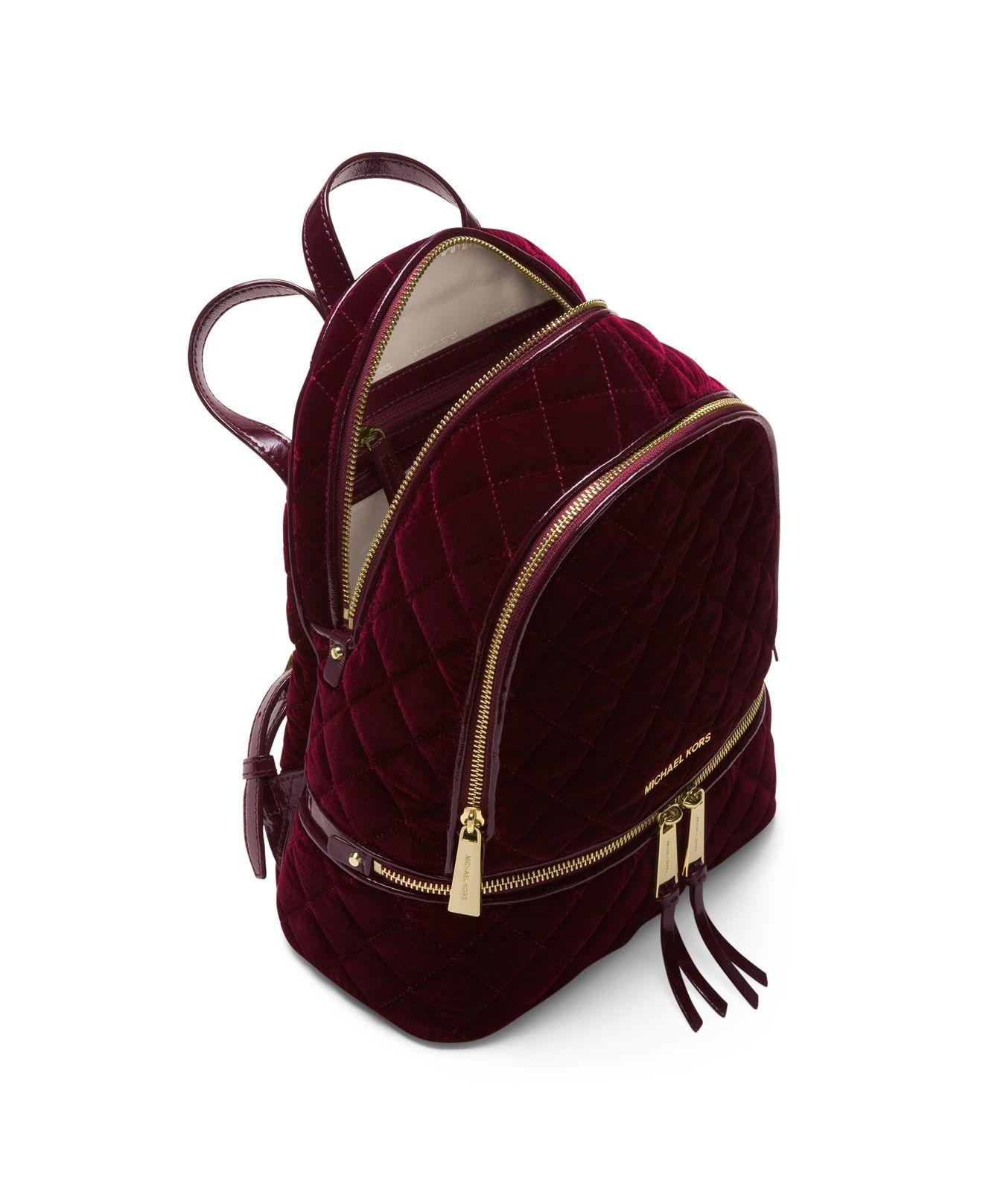 8ba19f87cec95c coupon code for michael kors crossbodies medium camera crossbody bag 4bd4f  09cc0; usa michael michael kors rhea velvet backpack in purple lyst acf2d  ce53b