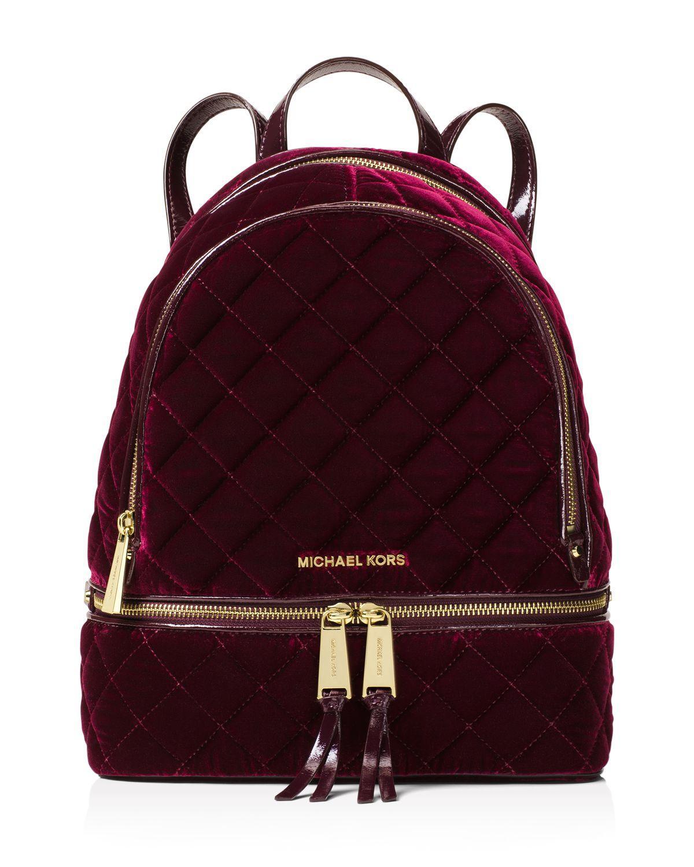 f539ed693f981 ... hot lyst michael michael kors rhea velvet backpack in purple 26b01 9453e