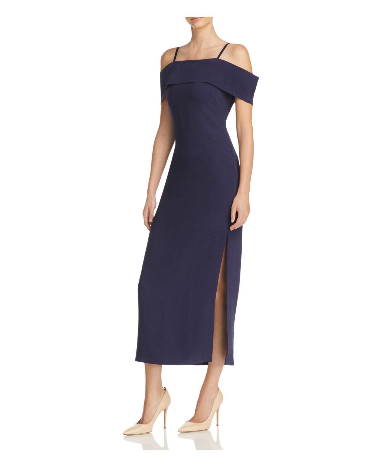 9c3fc56b83ff Lyst - Elizabeth And James Adriana Off-the-shoulder Midi Dress in Blue