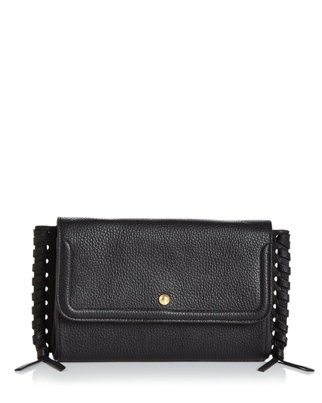153ed8b99 Annabel Ingall Emma Oversize Whipstitch Leather Clutch in Black - Save 70%  - Lyst