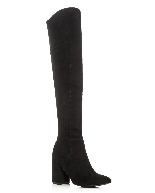 cole haan darla the knee suede block heel boots in