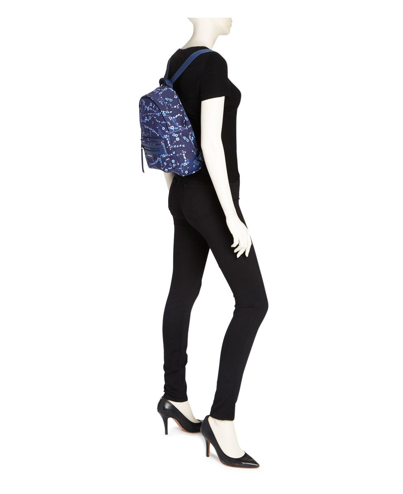 Lyst - Longchamp Le Pliage Neo Sakura Small Nylon Backpack in Blue 3ca77d655d92f