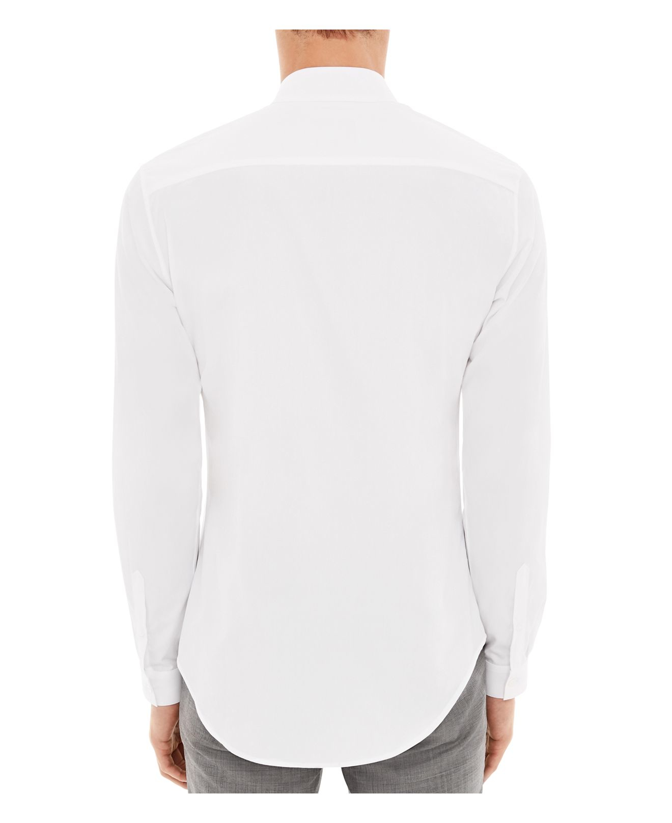 Lyst Sandro Accord Slim Fit Button Down Shirt In White