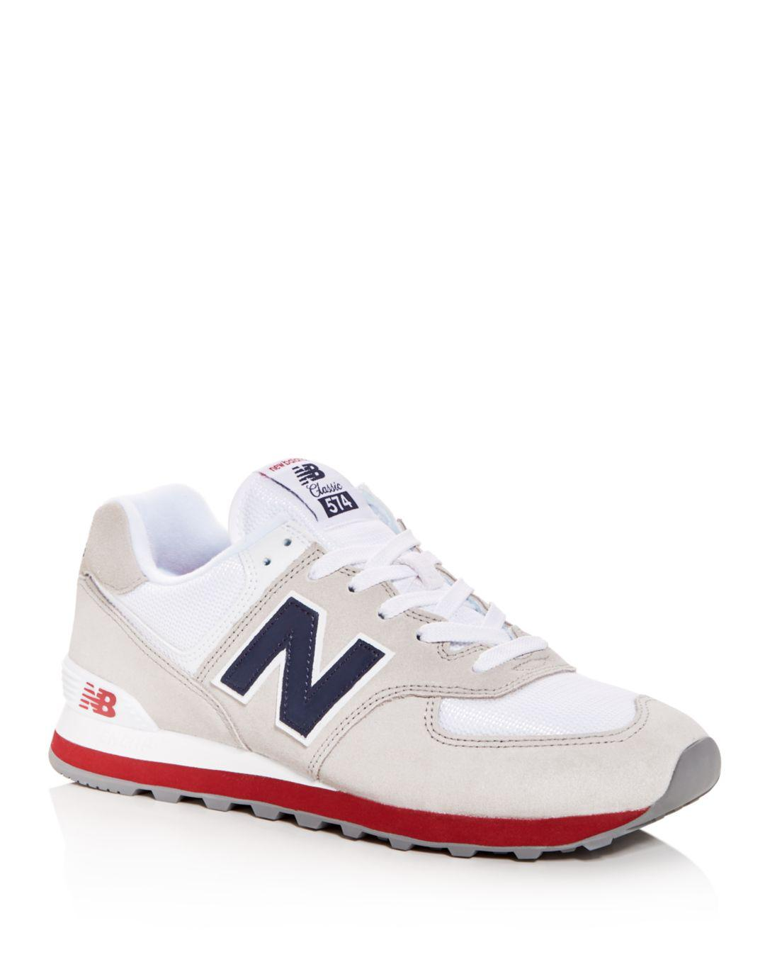 sports shoes 15bda ccf61 New Balance Men s Classic 574 Lace Up Sneakers in White for Men - Lyst