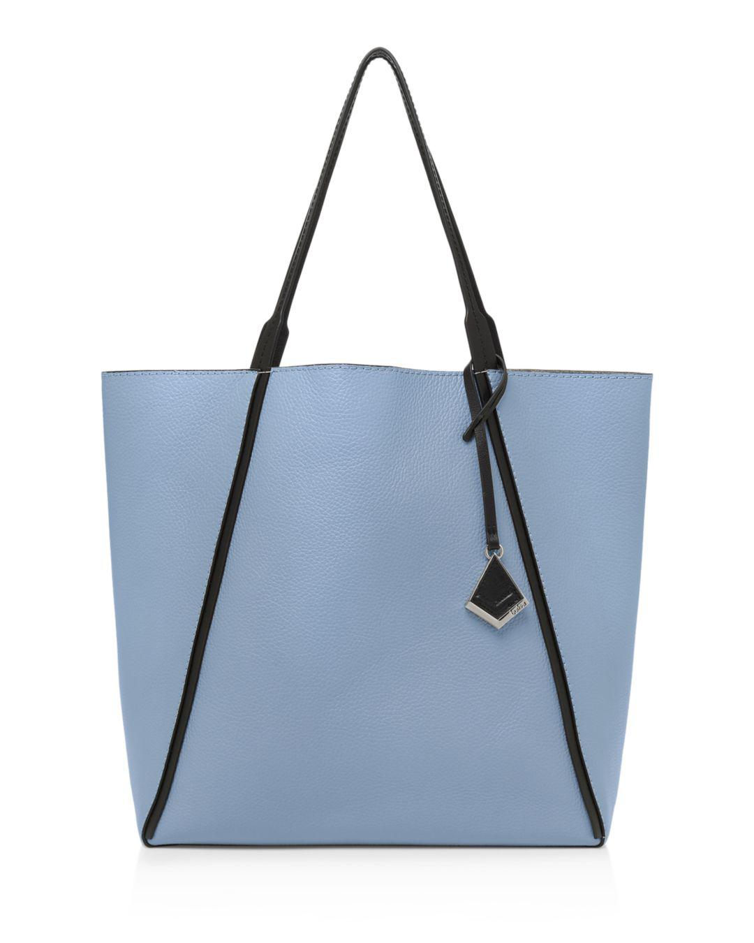 742eb649b Lyst - Botkier Trinity Leather Tote in Blue - Save 58%