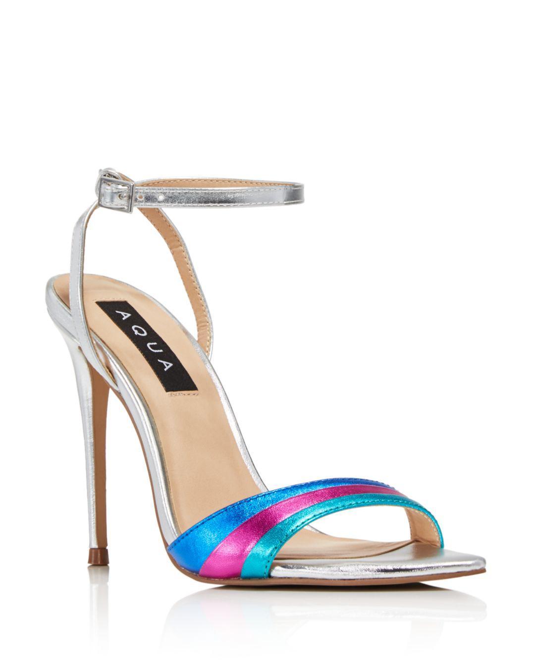 73a13b89f5b Aqua - Blue Women s Kiki Rainbow High-heel Sandals - Lyst. View fullscreen