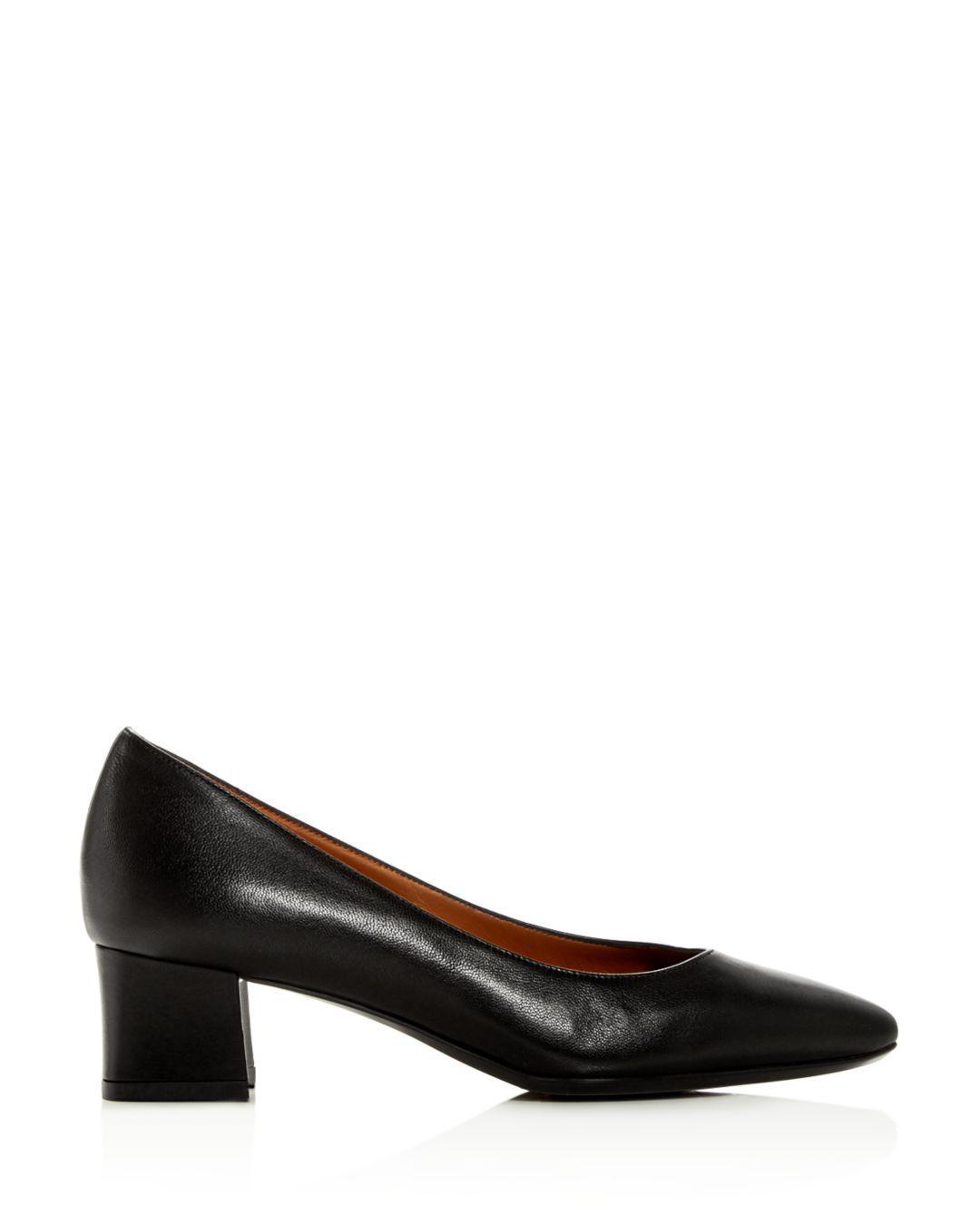 7b42cbb713e8 Lyst - Aquatalia Women s Pasha Weatherproof Block-heel Pumps in Black