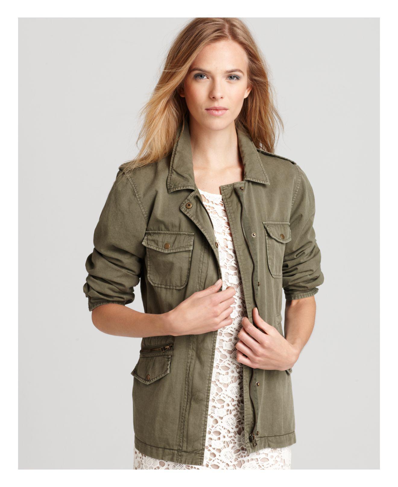 Velvet By Graham & Spencer. Women's Green Army Jacket