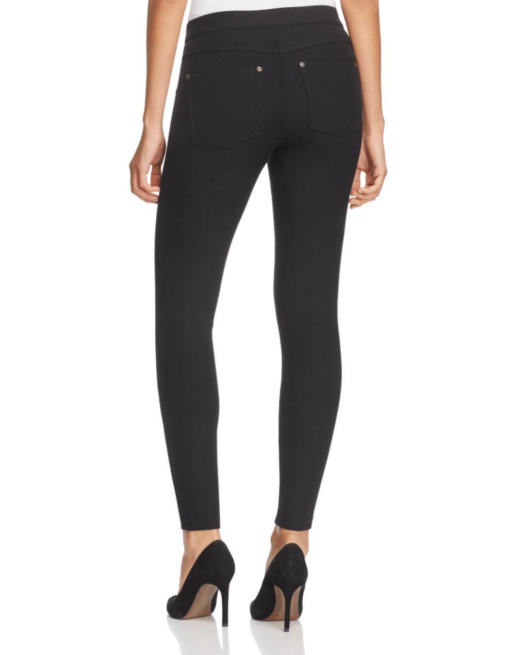 be1675ec20e1fc Lyst - Hue Fleece-lined Denim Leggings in Black
