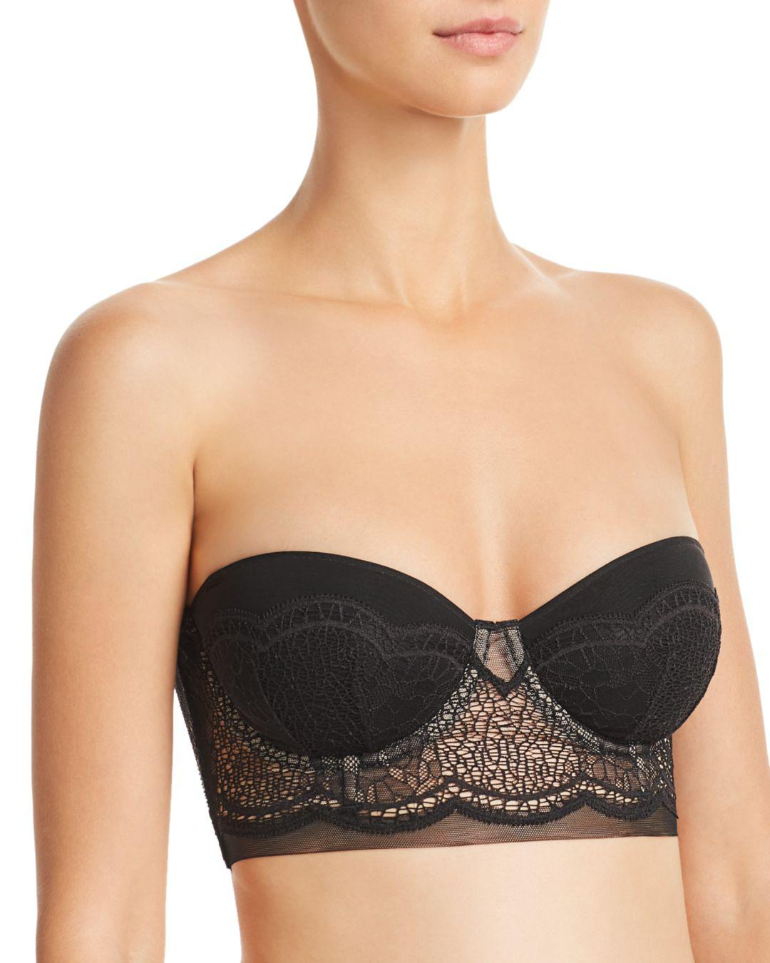 d17b6c498b Calvin Klein. Women s Ck Black Crackled Lace Lightly Lined Strapless Bra