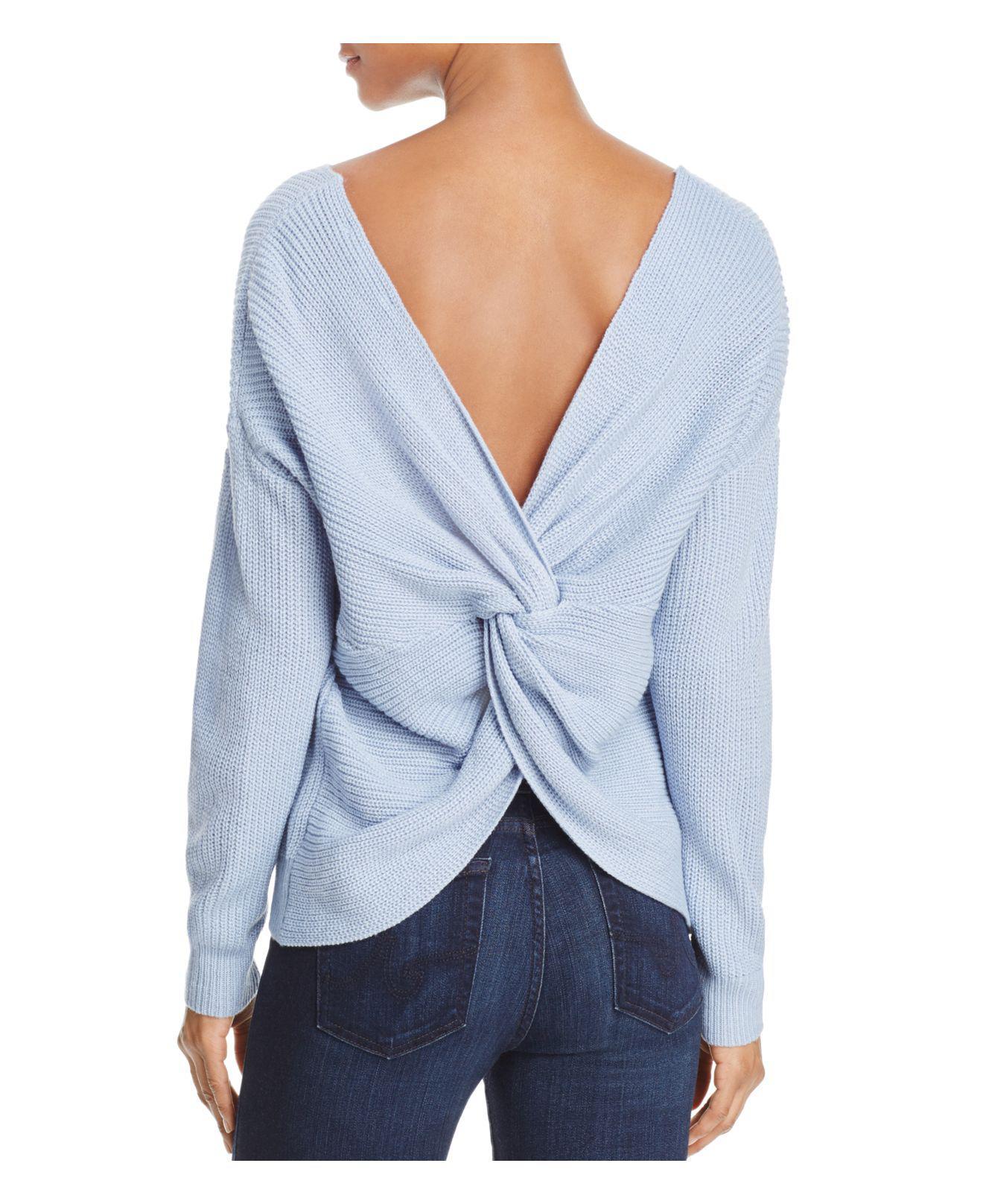 lyst endless rose twist back sweater in blue