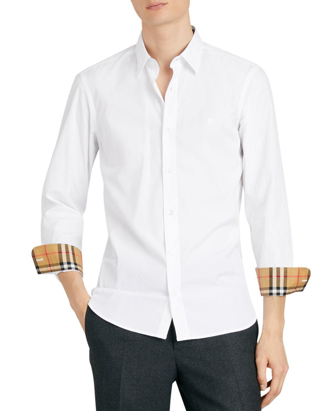 02949ee5 Lyst - Burberry William Regular Fit Sport Shirt in White for Men