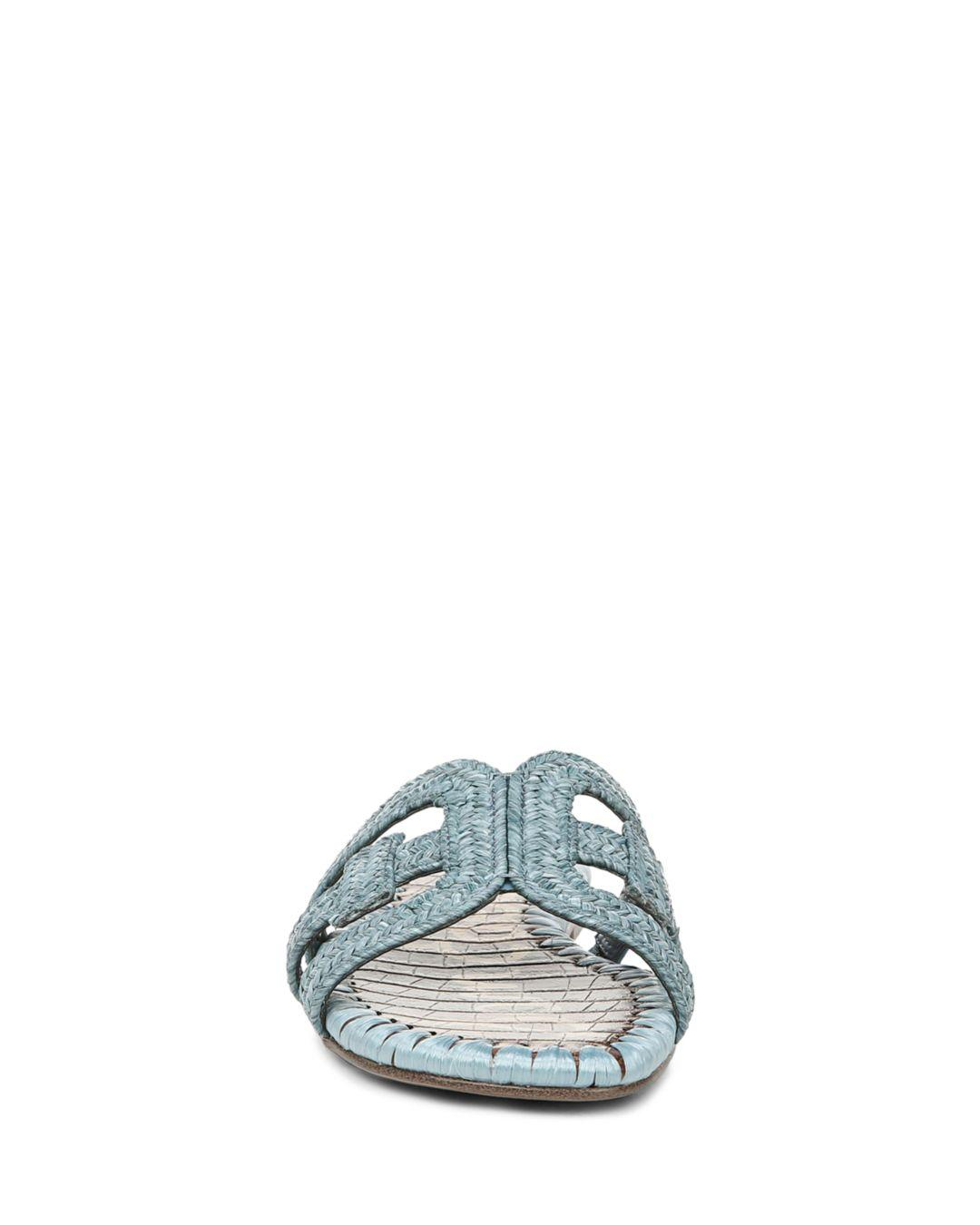626556c2e Sam Edelman - Blue Women s Beckie Woven Slide Sandals - Lyst. View  fullscreen