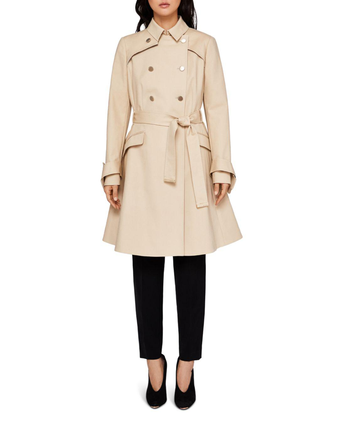e941bdf7824c Lyst - Ted Baker Marrian Flared Trench Coat in Natural