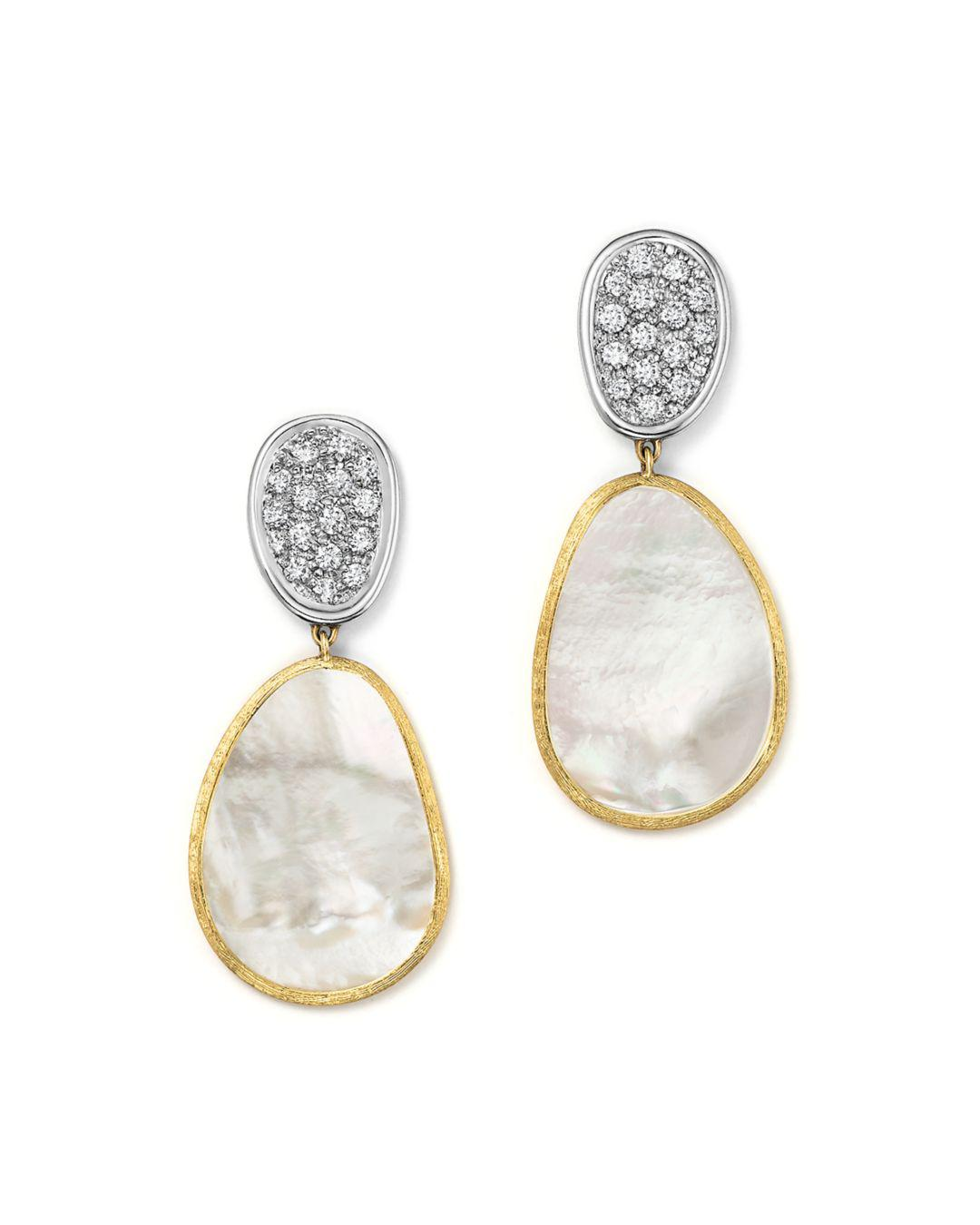 93934b27dd81 Marco Bicego 18k White   Yellow Gold Lunaria Mother-of-pearl Diamond ...