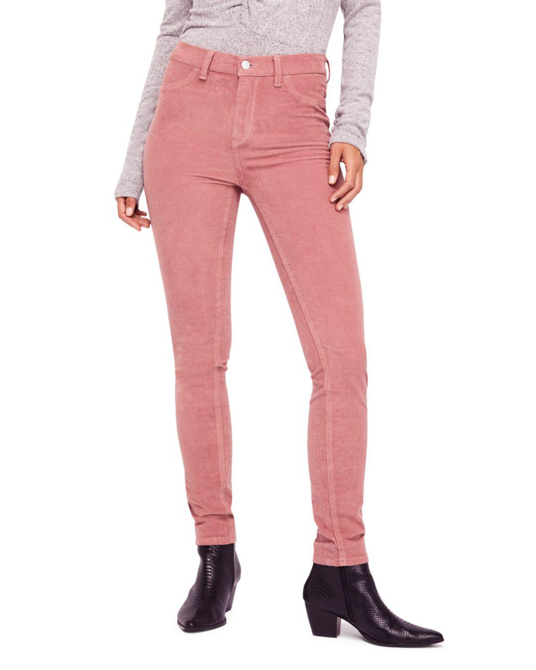 9ab52e6126 Free People Corduroy Skinny Jeans In Mauve in Purple - Lyst