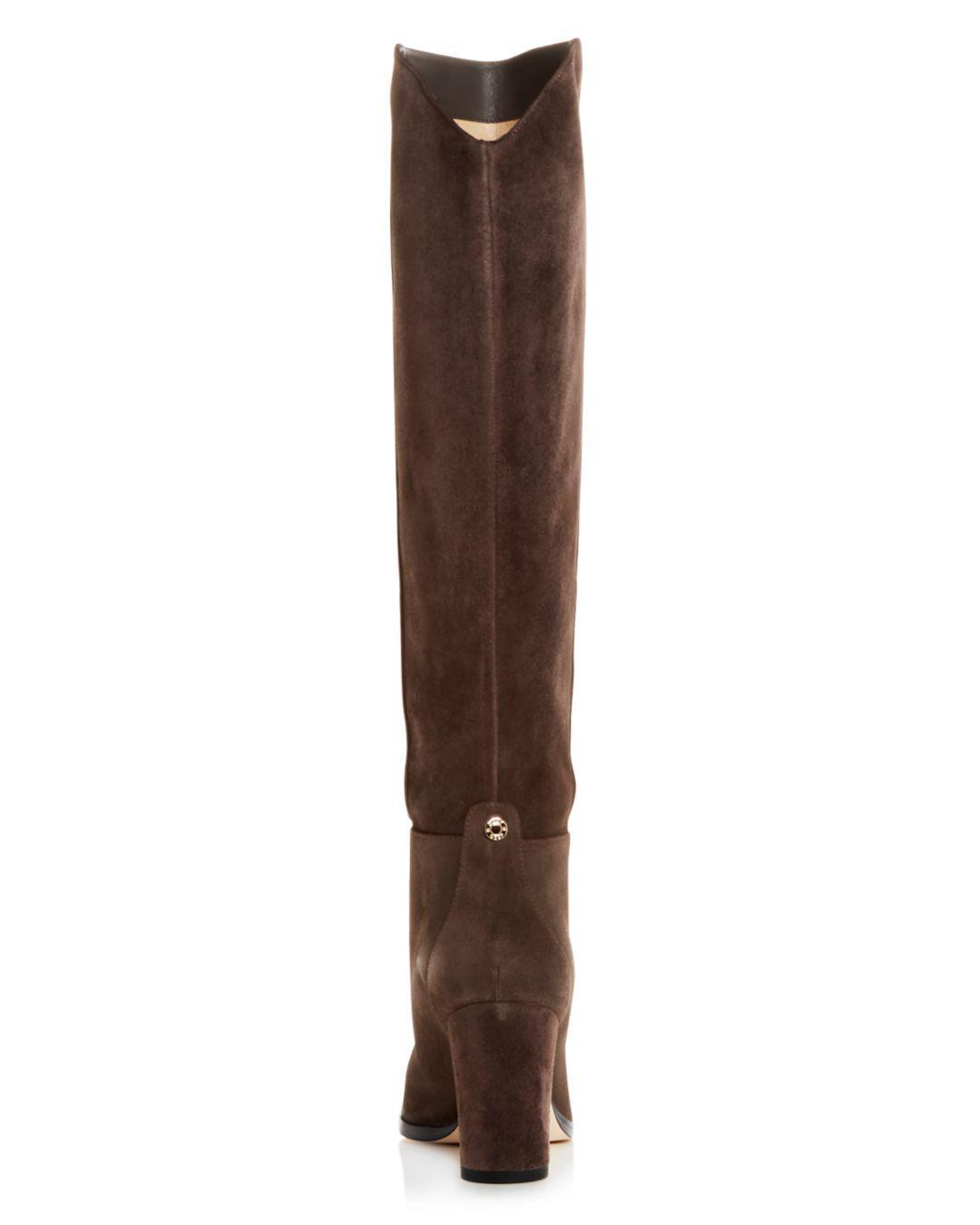 0eab4653df8 Jimmy Choo - Gray Women s Madalie 80 High Block-heel Boots - Lyst. View  fullscreen