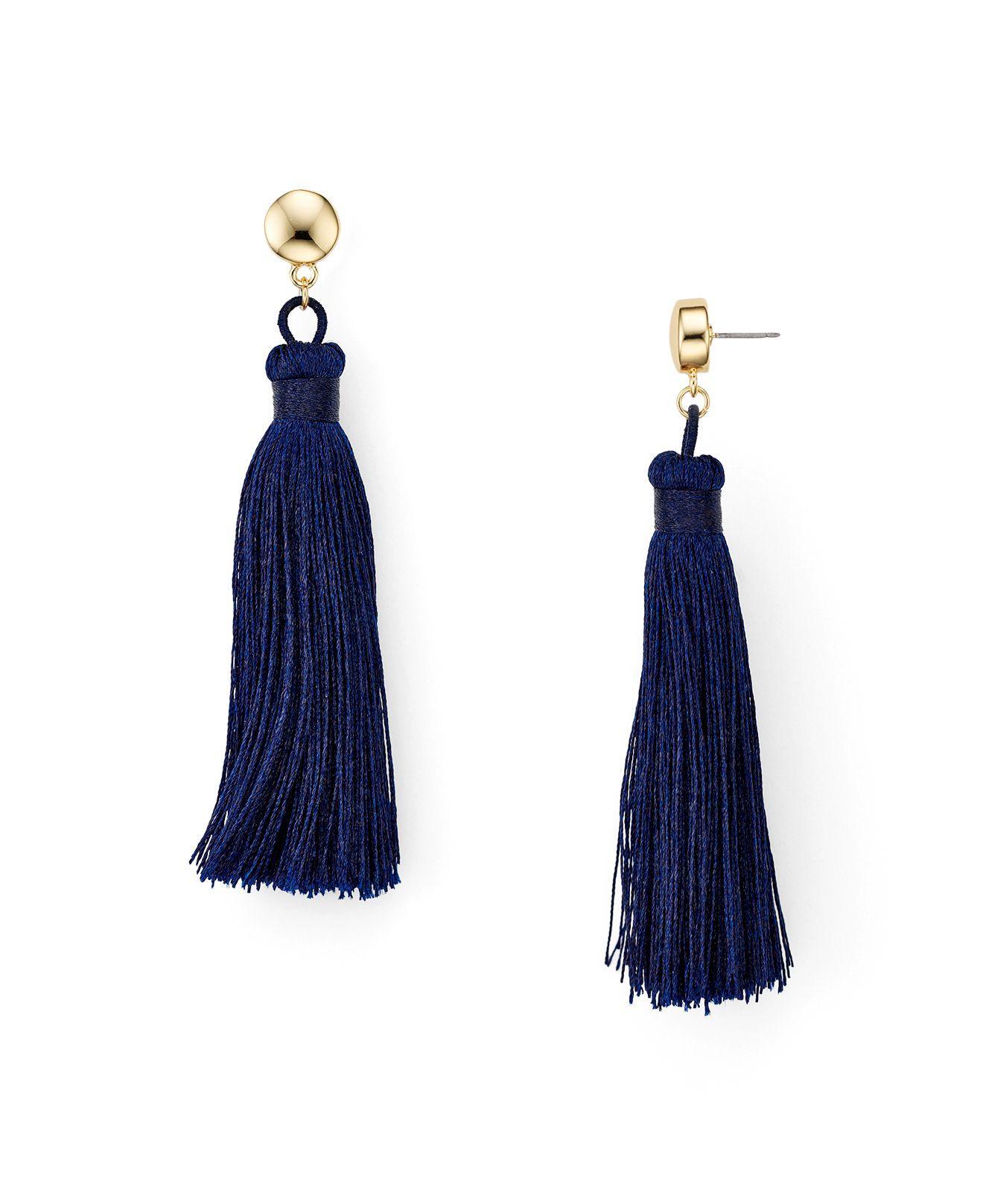 Lyst Aqua Jaclyn Fringe Tassel Earrings In Blue