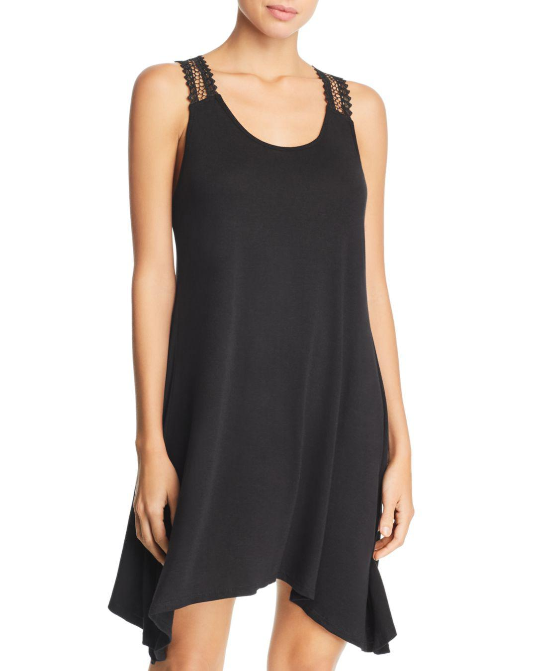 00a137ff0a3d8 Lyst - J Valdi Luxe Jersey Crochet-racerback Swim Cover-up in Black